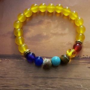 Jewelry - 🧘♂️NWT 7 Chakra Healing Balance Yellow bracelet